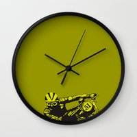 motorcycle Wall Clocks featuring Motorcycle by bike51design