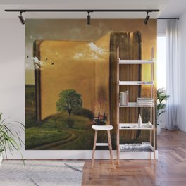 Surrealism Dream world with Book and Chair Wall Mural