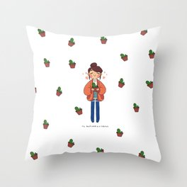 Cactus Boyfriend Throw Pillow