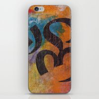 om iPhone & iPod Skins featuring Om by Michael Creese