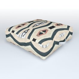Gluck beige black and white woven pattern Outdoor Floor Cushion