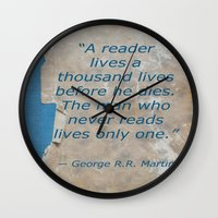 books Wall Clocks featuring Books by Dora Birgis
