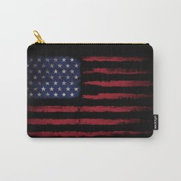 United states flag Black ink Carry-All Pouch
