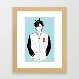 Haikyuu!! - Kuroo Tetsurou 2 Framed Art Print