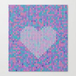 Heart Knit I Canvas Print