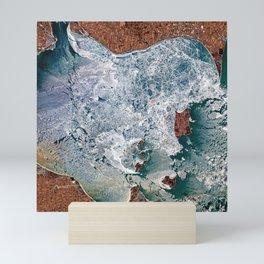 Lake Erie Islands in winter Mini Art Print