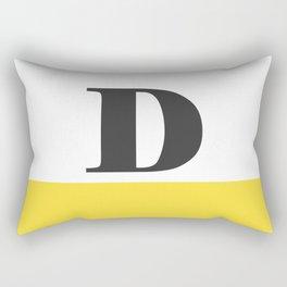 Monogram Letter D-Pantone-Buttercup Rectangular Pillow