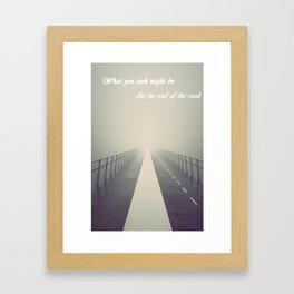The Roads End Framed Art Print