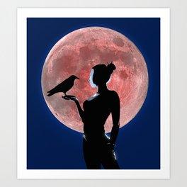Under the Pale Moonlight Art Print