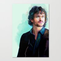 will graham Canvas Prints featuring Will Graham by The Wayward Daughter