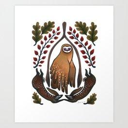 Lucky Oaks Art Print