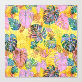 Kona Tropic Yellow Canvas Print