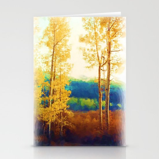 Faded Aspens Stationery Cards
