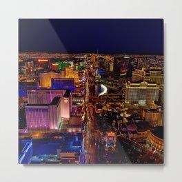 USA Photography - Downtown Las Vegas Metal Print