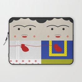 Las Dos Fridas (inspired on Frida's painting) Laptop Sleeve