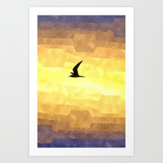 Abstract Seagull Flight Art Print
