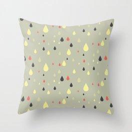 retro raindrops Throw Pillow