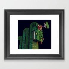Reptile Brain Framed Art Print