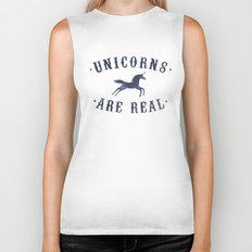 Unicorns Are Real II Biker Tank