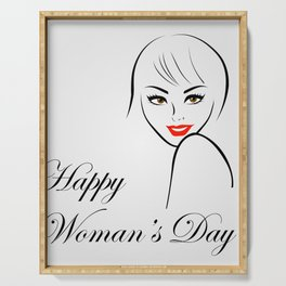 Happy womens day- she persisted gifts Serving Tray