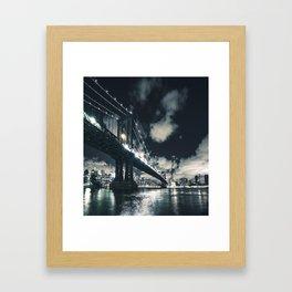 manhattan bridge in nyc Framed Art Print