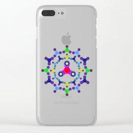 Fidget Spinner design version 2 Clear iPhone Case