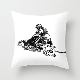 Unbounding, from an Urban Sketching Point of View Throw Pillow