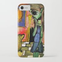 toilet iPhone & iPod Cases featuring Girl and Toilet by Nicole Medearis