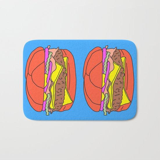 Burger Pop Bath Mat