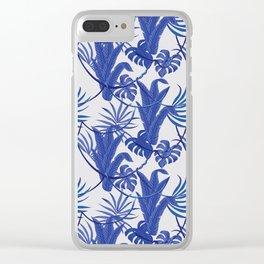 Jungle pattern Clear iPhone Case