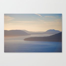 Rolling Lummi Islands San Juan Islands Canvas Print