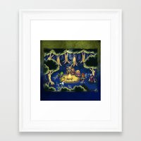 chrono trigger Framed Art Prints featuring Chrono Trigger Camping Scene by likelikes