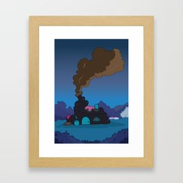 A house in the middle of nowhere... Framed Art Print