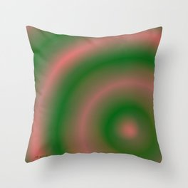 Green and Pink Throw Pillow