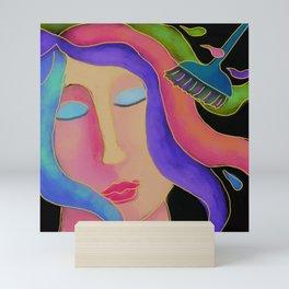 Hair Color Hair Stylist Abstract Digital Painting  Mini Art Print
