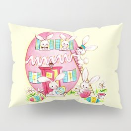 A Very Vintage Easter - Reimagined Vintage Easter Card Pillow Sham