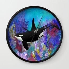 Under The Sea Orca Killer Whale Wall Clock