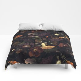 Vintage & Shabby Chic - Flowers at Night Comforters