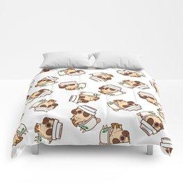 Puglie Pugkin Spice Latte Comforters