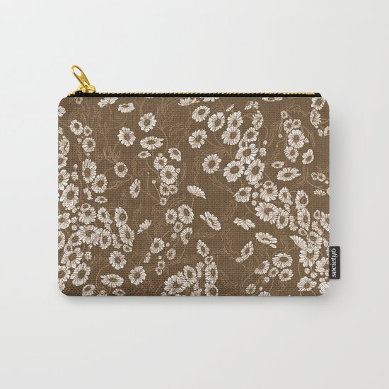 Daisy Dream Sepia Carry-All Pouch