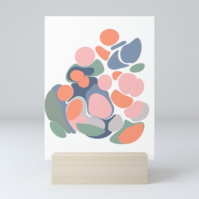 Abstract Shape Flower Art Mini Art Print