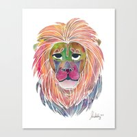 courage Canvas Prints featuring Courage by Jhoanna Monte