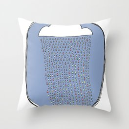 Heartly Raining Throw Pillow