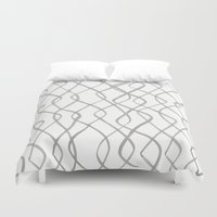 runner Duvet Covers featuring Wave Runner by November Tigerlilly