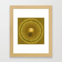Golden Sunrise Pattern Framed Art Print