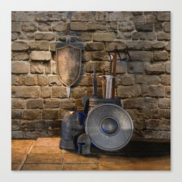 Medieval Weaponry Canvas Print