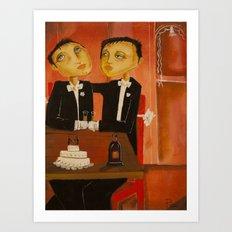 Wedding day Art Print