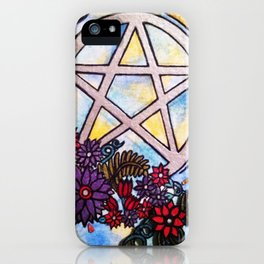 3d pentacle iPhone Case
