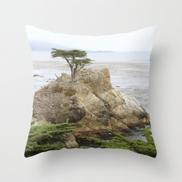Lone Cypress  Of Monterey Throw Pillow