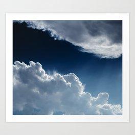 Sky, clouds and lights. Art Print